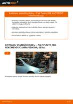 Kaip pakeisti Fiat Punto 188 dyzelis stabdžių diskų: priekis - keitimo instrukcija
