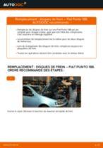 Comment changer : disques de frein avant sur Fiat Punto 188 diesel - Guide de remplacement