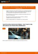 Cómo cambiar: discos de freno de la parte delantera - Fiat Punto 188 diésel | Guía de sustitución