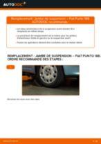 Comment changer : jambe de suspension avant sur Fiat Punto 188 diesel - Guide de remplacement