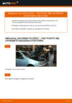 Kako zamenjati avtodel zavorne ploščice spredaj na avtu Fiat Punto 188 diesel – vodnik menjave
