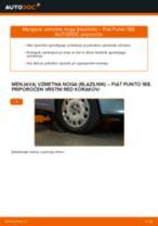 Kako zamenjati avtodel vzmetna noga (blazilnik) spredaj na avtu Fiat Punto 188 diesel – vodnik menjave
