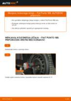 Kako zamenjati avtodel kolesni ležaji spredaj na avtu Fiat Punto 188 diesel – vodnik menjave