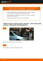 Como mudar pastilhas de travão da parte dianteira em Fiat Punto 188 diesel - guia de substituição