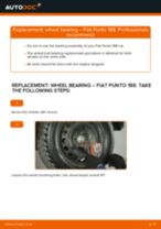 FIAT PUNTO (188) change Brake Shoes front and rear: guide pdf
