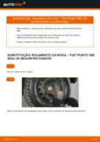 Como mudar rolamento da roda da parte traseira em Fiat Punto 188 diesel - guia de substituição