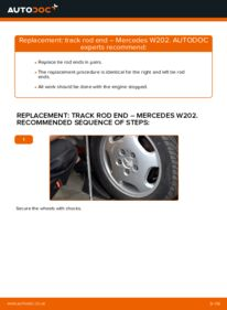 How to carry out replacement: Track Rod End on C 180 1.8 (202.018) Mercedes W202