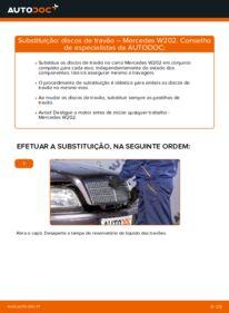 Como realizar a substituição de Discos de Travão no C 180 1.8 (202.018) Mercedes W202
