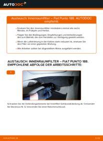 Wie der Wechsel durchführt wird: Innenraumfilter 1.2 60 Fiat Punto 188 tauschen