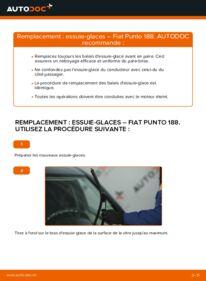 Comment effectuer un remplacement de Essuie-Glaces sur 1.2 60 Fiat Punto 188