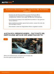 Wie der Wechsel durchführt wird: Bremsscheiben 1.2 60 Fiat Punto 188 tauschen