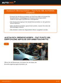 Wie der Ersatz vollführt wird: Bremsscheiben am FIAT PUNTO