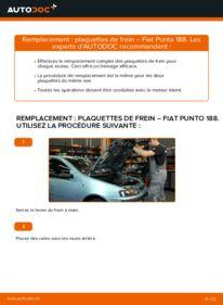 Comment effectuer un remplacement de Plaquettes de Frein sur 1.2 60 Fiat Punto 188
