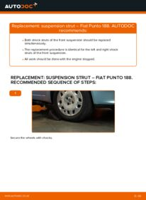 How to carry out replacement: Shock Absorber on 1.2 60 Fiat Punto 188