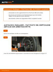 Wie der Wechsel durchführt wird: Radlager Fiat Punto 188 1.2 60 1.2 16V 80 1.3 JTD 16V tauschen