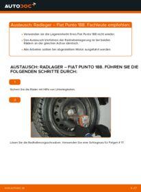 Wie der Wechsel durchführt wird: Radlager 1.2 60 Fiat Punto 188 tauschen