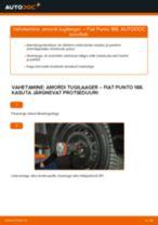 FIAT PUNTO (188) vahetada Piduriketas eesmine ja tagumine: käsiraamatute pdf