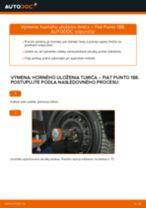 Ako vymeniť predné horné uloženie tlmiča na Fiat Punto 188 diesel – návod na výmenu