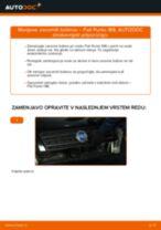 Kako zamenjati avtodel zavorni boben na avtu Fiat Punto 188 diesel – vodnik menjave