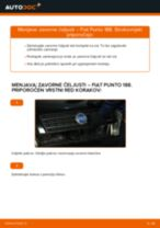 Kako zamenjati avtodel zavorne čeljusti zadaj na avtu Fiat Punto 188 diesel – vodnik menjave