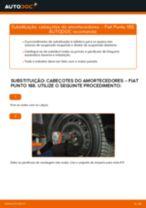 Como mudar cabeçotes do amortecedores da parte dianteira em Fiat Punto 188 diesel - guia de substituição