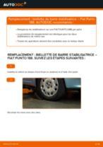 Comment changer : biellette de barre stabilisatrice avant sur Fiat Punto 188 diesel - Guide de remplacement