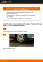 Cómo cambiar: bieletas de suspensión de la parte delantera - Fiat Punto 188 diésel | Guía de sustitución