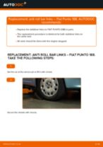 Step by step PDF-tutorial on Anti Roll Bar Links FIAT PUNTO (188) replacement