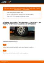 Podrobný PDF tutorial k výmene FIAT PUNTO (188) Hlava / čap spojovacej tyče riadenia