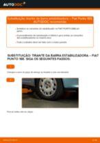 Como mudar tirante da barra estabilizadora da parte dianteira em Fiat Punto 188 diesel - guia de substituição