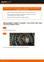 Online manual on changing Brake caliper bracket yourself on Mercedes W168