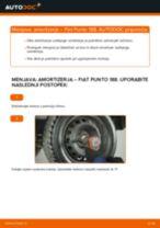 Kako zamenjati avtodel amortizer zadaj na avtu Fiat Punto 188 diesel – vodnik menjave