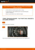 Befecskendező szelep cseréje: pdf útmutatók FIAT PUNTO