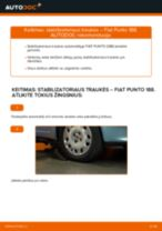 Kaip pakeisti Fiat Punto 188 dyzelis stabilizatoriaus traukės: priekis - keitimo instrukcija