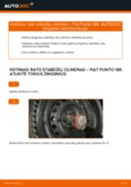 Ratų cilindrai keitimas: pdf instrukcijos FIAT PUNTO