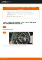 Gratis instruksjoner på nett for bytte Holder, stabilisatorlagring FIAT PUNTO (188)