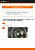 Como mudar molas de suspensão da parte traseira em Fiat Punto 188 diesel - guia de substituição