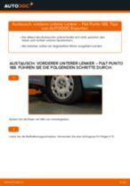 Wie Fiat Punto 188 Diesel vorderer unterer Lenker wechseln - Anleitung