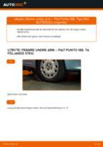 Byta främre undre arm på Fiat Punto 188 diesel – utbytesguide