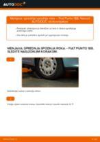 Kako zamenjati avtodel sprednja spodnja roka na avtu Fiat Punto 188 diesel – vodnik menjave