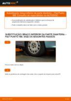 Como mudar braço inferior da parte dianteira em Fiat Punto 188 diesel - guia de substituição