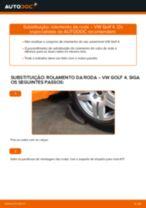 Como mudar rolamento da roda da parte dianteira em VW Golf 4 - guia de substituição