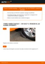 Elülső kerékcsapágy-csere VW Golf 4 gépkocsin – Útmutató