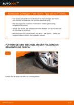 Stoßdämpferlager vorderachse und hinterachse wechseln: Online-Anweisung für VW GOLF