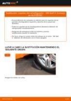 Cómo cambiar: copelas del amortiguador de la parte delantera - VW Golf 4 | Guía de sustitución