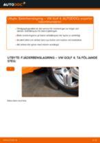 Montering Fjäderbenslager VW GOLF IV (1J1) - steg-för-steg-guide