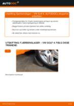 Veiledning på nettet for å skifte Støtdemperlager i VW GOLF IV (1J1) selv