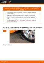 Kuinka vaihtaa jousijalan tukilaakeri eteen VW Golf 4-autoon – vaihto-ohje
