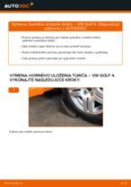 Ako vymeniť zadné horné uloženie tlmiča na VW Golf 4 – návod na výmenu