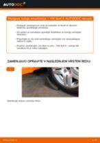Kako zamenjati avtodel ležaj amortizerja spredaj na avtu VW Golf 4 – vodnik menjave